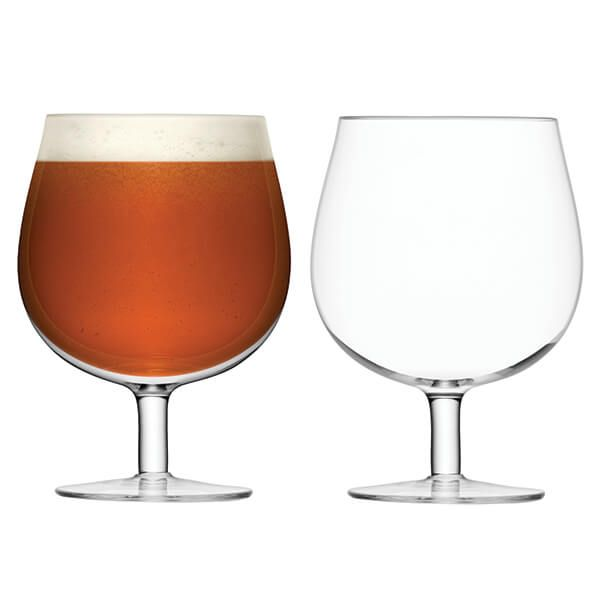 LSA Bar Craft Beer Glass 550ml Clear Set Of Two