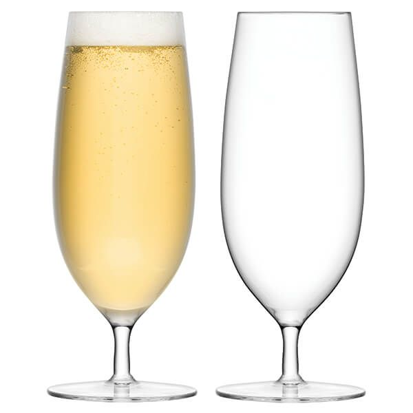 LSA Bar Pilsner Glass 450ml Clear Set Of Two