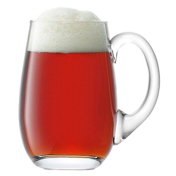 LSA Bar Beer Tankard Curved 750ml Clear