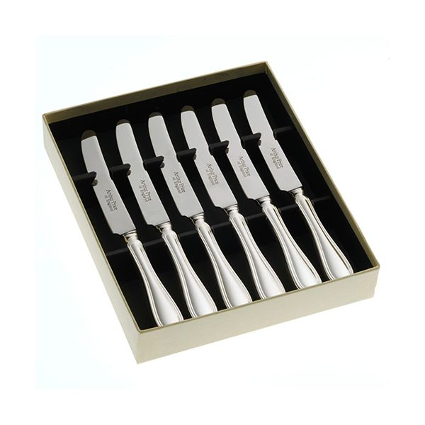 Arthur Price of England Sovereign Stainless Steel Set Of Six Tea Knives Britannia