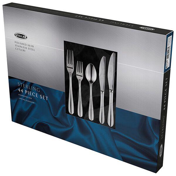 Stellar Sterling Stainless Steel 44 Piece Cutlery Gift Box Set