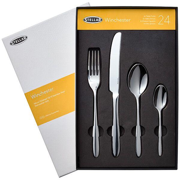 Stellar Winchester 24 Piece Cutlery Gift Box Set