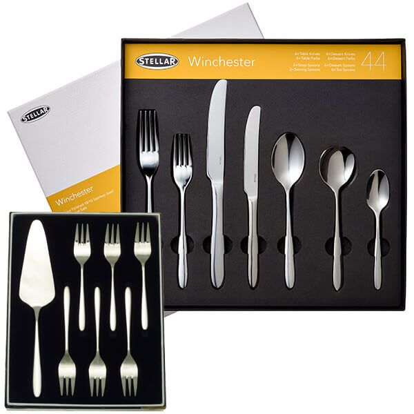 Stellar Winchester 44 Piece Cutlery Gift Box Set with FREE Gift