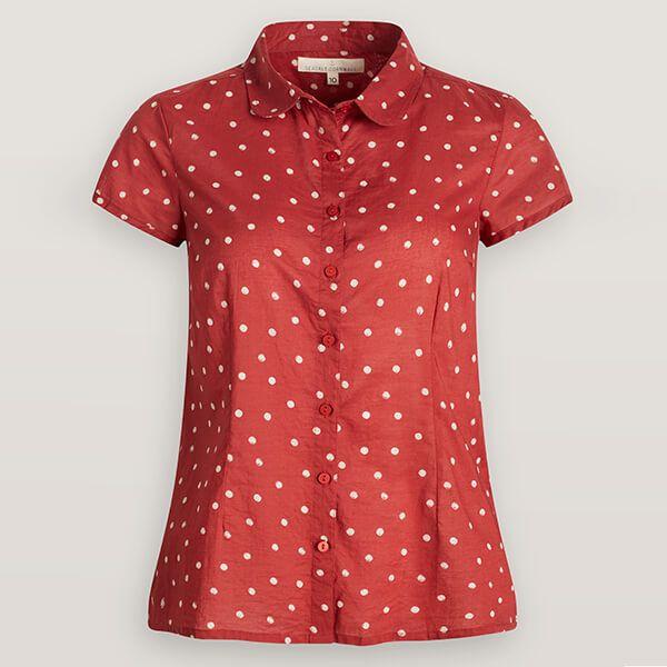 Seasalt Rushmaker Shirt Little Sponge Spot Red Clay