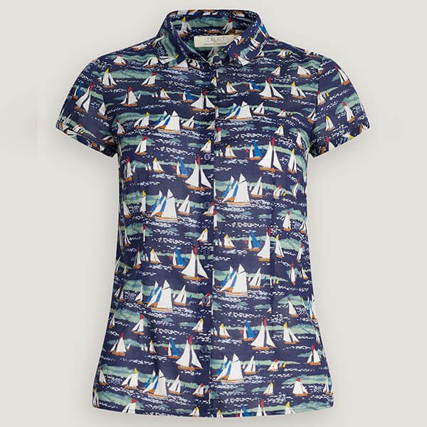 Seasalt Rushmaker Shirt Lamorna Sail Waterline