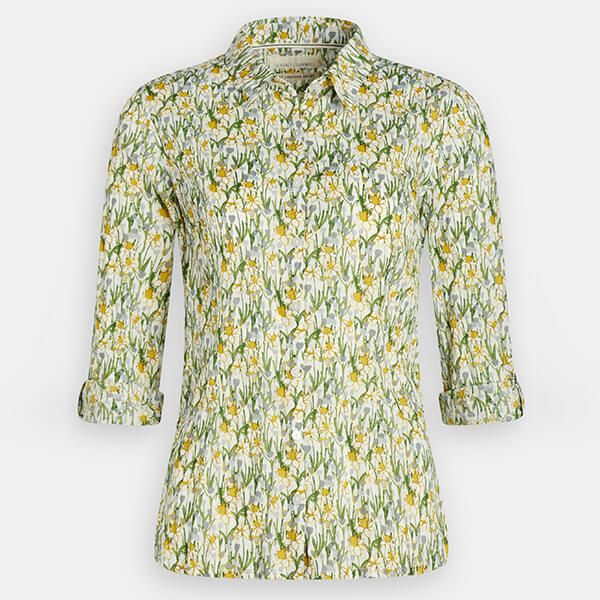 Seasalt Larissa Shirt Spring Border Dill