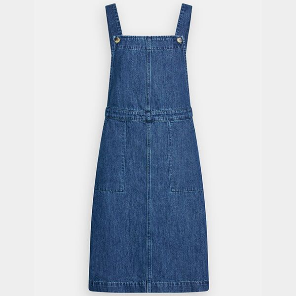 Seasalt Scots Pine Pinafore Dress Mid Indigo