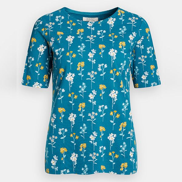 Seasalt Poisson Top Floral Study Swell