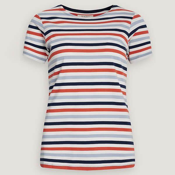 Seasalt Sailor T-Shirt Tri Mini Cornish Chalk Autumn Sun
