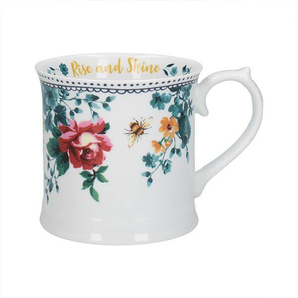 Katie Alice Bohemian Spirit Floral Slogan Tankard Mug