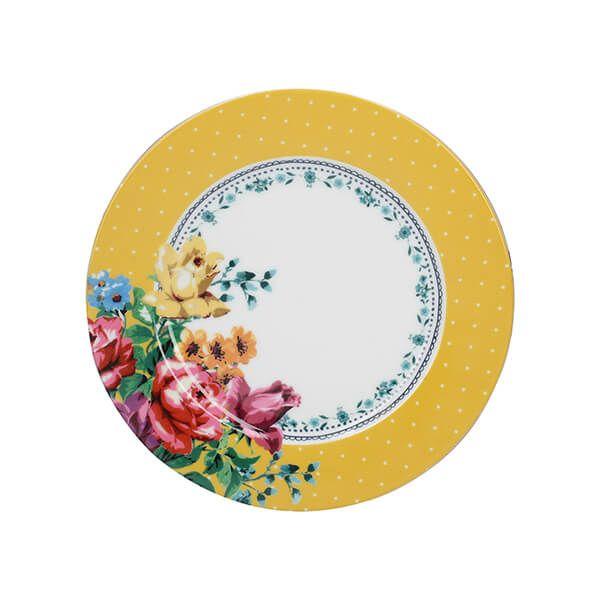 Katie Alice Bohemian Spirit Mustard Spot Side Plate