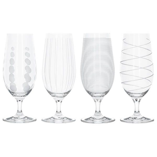 Mikasa Cheers Set Of 4 Stemmed Pilsner Glasses