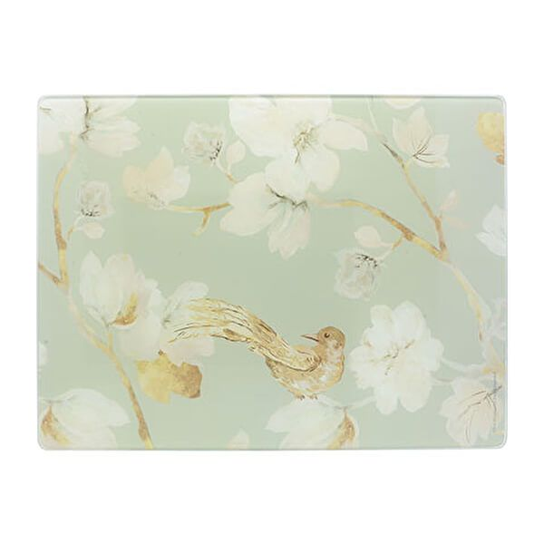 Creative Tops Duck Egg Floral Work Surface Protector