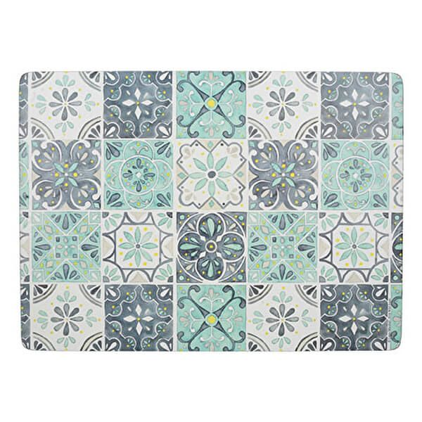 Creative Tops Green Tile Pack Of 4 Large Placemats