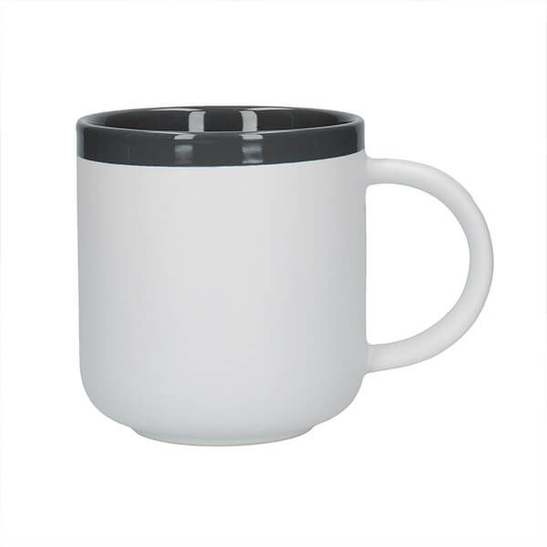 La Cafetiere Barcelona 480ml Latte Mug Cool Grey