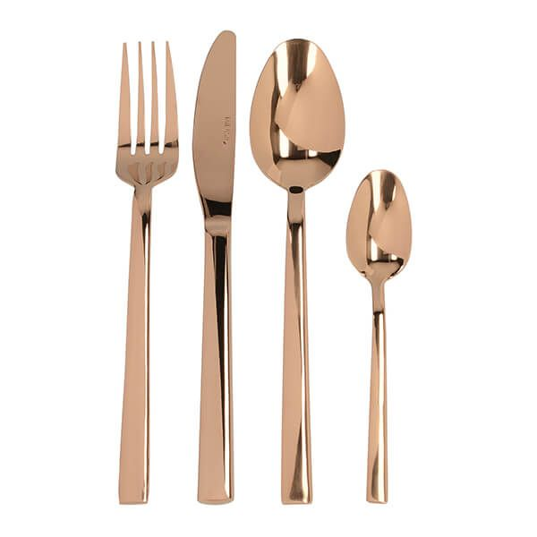 Mikasa Ciara Diseno 16 Piece Cutlery Set Copper
