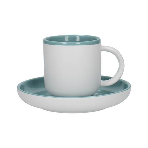 La Cafetiere Barcelona 130ml Espresso Cup & Saucer Retro Blue