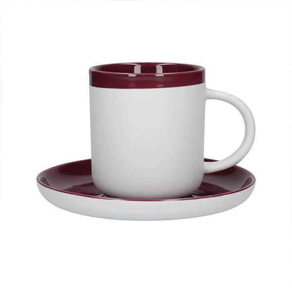 La Cafetiere Barcelona 300ml Coffee Cup & Saucer Plum