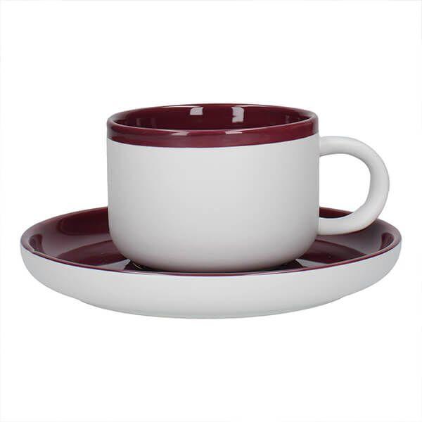 La Cafetiere Barcelona 290ml Tea Cup & Saucer Plum