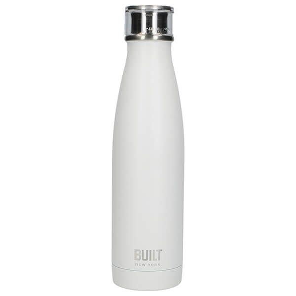 Built 500ml Double Walled Stainless Steel Water Bottle White