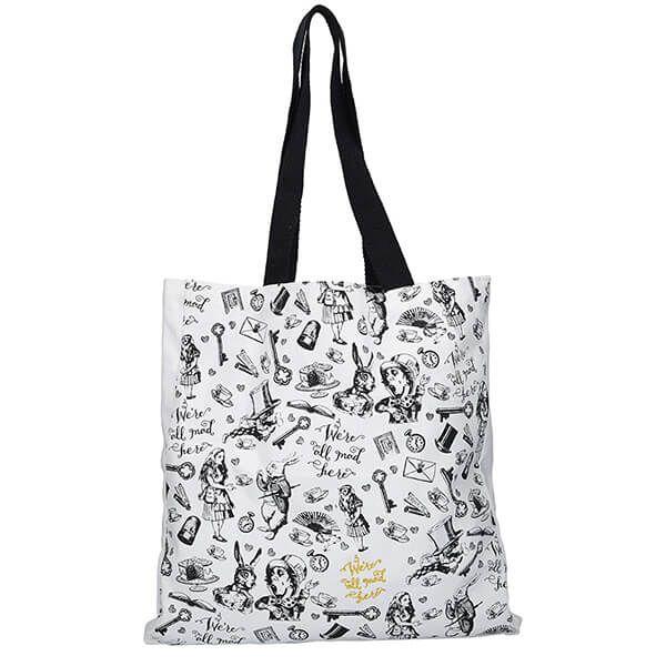 Alice In Wonderland All Over Print Shopper Bag