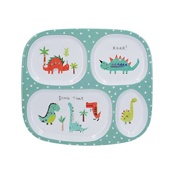 Creative Tops Hungrysaurus Divided Kids Plate