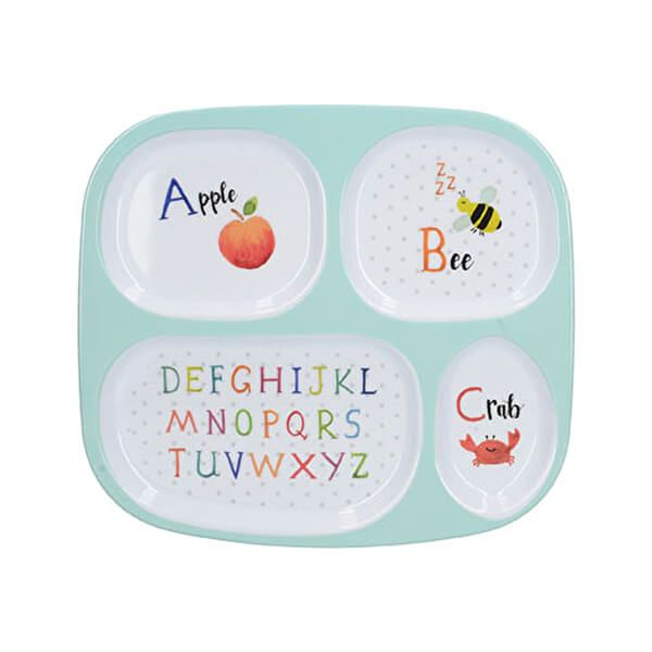 Creative Tops Alphabet Divided Kids Plate