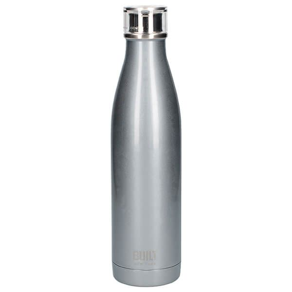 Built 740ml Double Walled Stainless Steel Water Bottle Silver