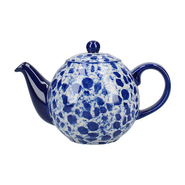 London Pottery Splash Globe 2 Cup Teapot Blue