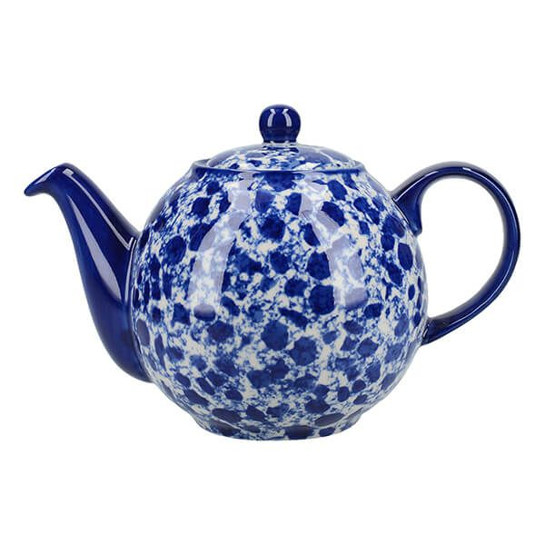 London Pottery Splash Globe 4 Cup Teapot Blue