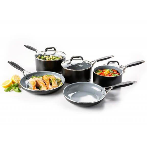 GreenPan York Ceramic Non-Stick 5 Piece Cookware Set