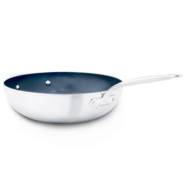 GreenPan Barcelona Evershine 30cm Wok With Helper Handle