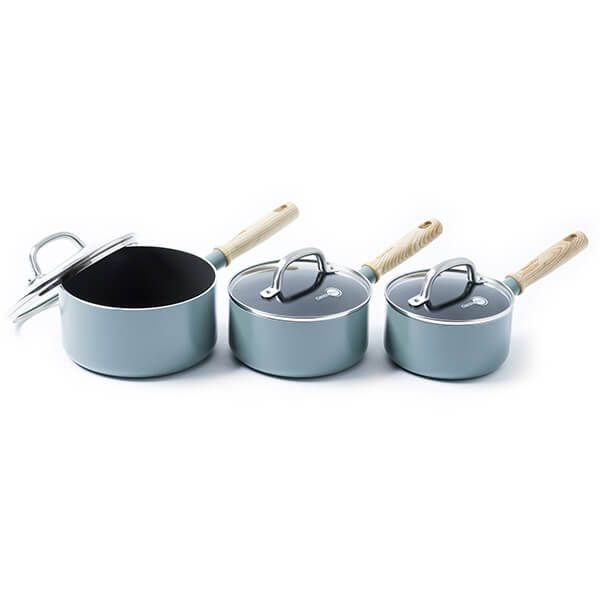 GreenPan Mayflower 3 Piece Saucepan Set With Lids