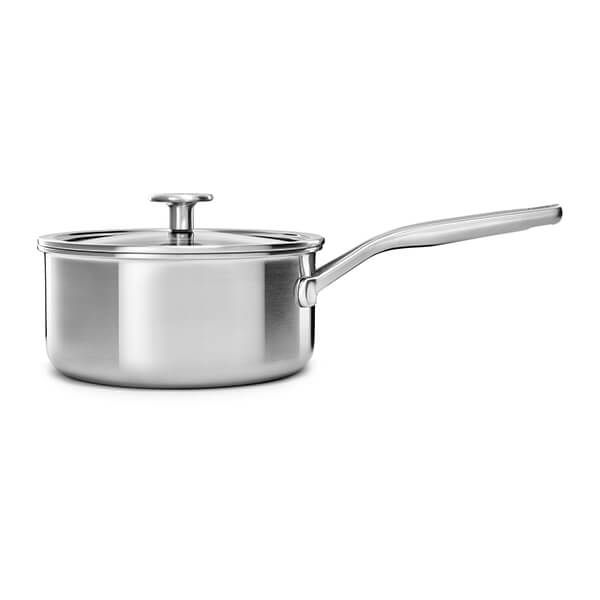 KitchenAid Multi-Ply Stainless Steel 3ply 16cm Saucepan with Lid