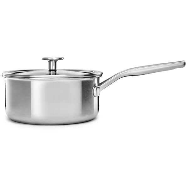 KitchenAid MultiPly Stainless Steel 3ply 20cm Saucepan with Lid