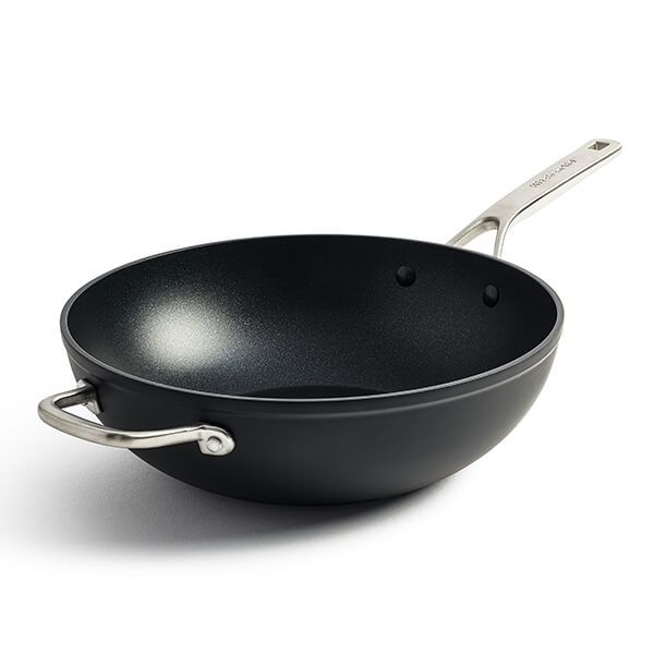 KitchenAid Forged Hardened Aluminium 30cm Wok with Helper Handle