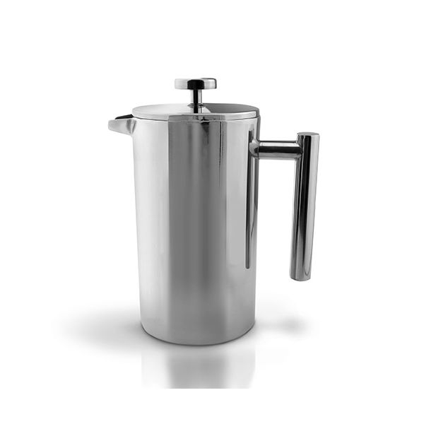 Grunwerg Double-wall Polished Straight Sided Cafetiere 3 Cup
