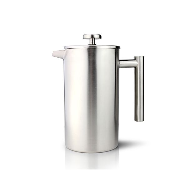 Grunwerg Double-wall Satin Straight Sided Cafetiere 3 Cup