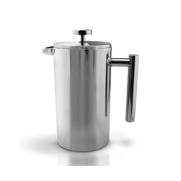 Grunwerg Double-wall Polished Straight Sided Cafetiere 6 Cup