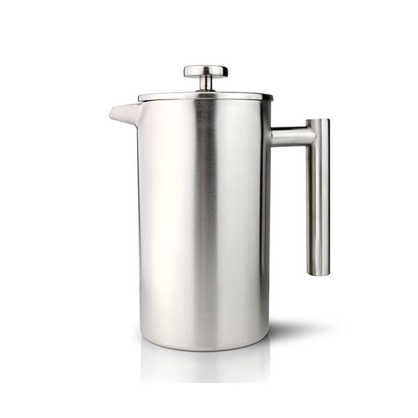 Grunwerg Double-wall Satin Straight Sided Cafetiere 6 Cup