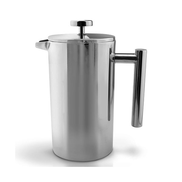 Grunwerg Double-wall Polished Straight Sided Cafetiere 12 Cup