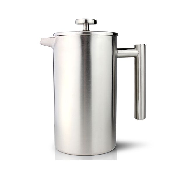 Grunwerg Double-wall Satin Straight Sided Cafetiere 12 Cup