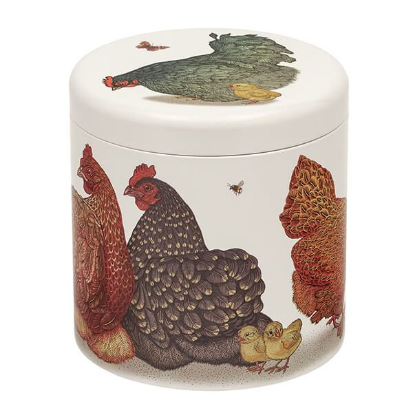 Vanessa Lubach Chickens Biscuit Barrel Tin