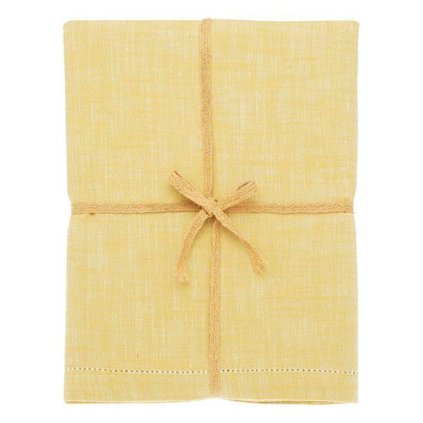 Walton & Co Saffron Chambray Tablecloth 130x280cm