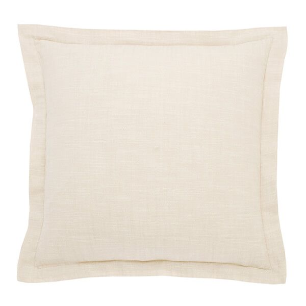 Walton & Co French Limestone Chambray Wide Flange Cushion