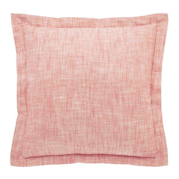 Walton & Co Terracotta Blush Chambray Wide Flange Cushion
