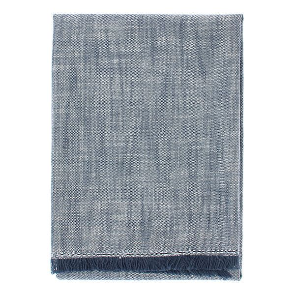 Walton & Co Flint Blue Chambray Hand Towel