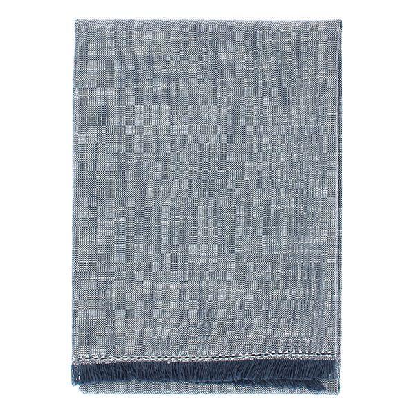 Walton & Co Flint Blue Chambray Hand Towel