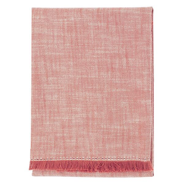 Walton & Co Terracotta Blush Chambray Hand Towel