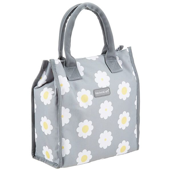 KitchenCraft 4 Litre Retro Flower Dot Lunch And Snack Cool Bag